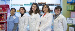 farmacisti e staff farmacia Pietro Cossa Torino